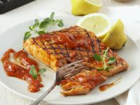 Grilled Salmon with Mango Sauce recipe