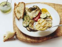 Grilled Scamorza Cheese and Vegetables recipe