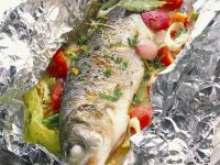 Grilled Sea Bass with Vegetables recipe