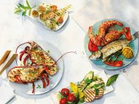 Grilled Seafood and Vegetables recipe
