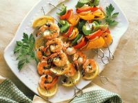 Grilled Shrimp and Bell Pepper Skewers recipe