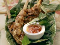 Grilled Shrimp and Ground Pork Kebabs recipe