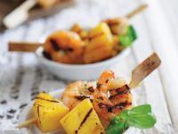 Grilled Shrimp and Fruit Kebabs recipe