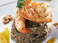 Grilled Shrimp with Orange Sauce and Mixed Grain Couscous recipe