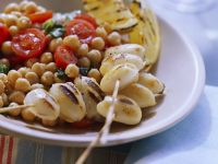 Grilled Squid with Chickpea Salad recipe