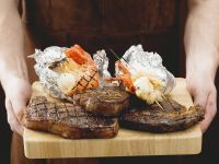 Grilled Beef and Seafood recipe