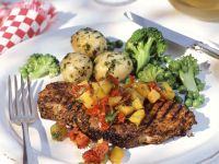 Grilled Steak with Tomato and Pepper Salsa recipe