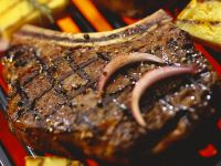 Grilled Steaks with Onion recipe