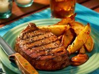 Grilled Steaks with Potato Wedges recipe