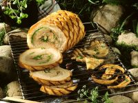 Grilled Stuffed Pork Belly recipe