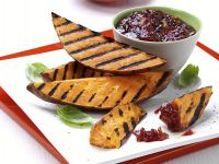 Grilled Sweet Potatoes with Tomato Sauce recipe