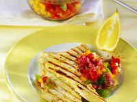 Grilled Swordfish with Pepper Relish recipe