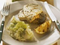 Grilled Swordfish with Potato Salad recipe