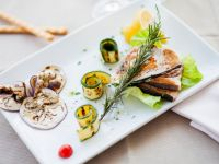 Grilled Swordfish with Vegetables recipe