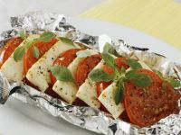 Grilled Tomatoes with Feta Cheese recipe