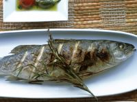 Grilled Trout with Marinated Cherry Tomatoes and Capers recipe
