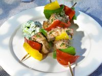Grilled Tuna and Bell Pepper Skewers recipe