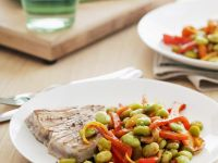 Grilled Tuna with Fava Beans recipe