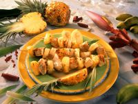 Grilled Turkey and Pineapple Skewers recipe