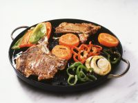 Veal Chops with Peppers and Tomatoes recipe
