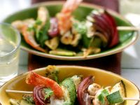 Grilled Vegetable Skewers with Shrimp recipe