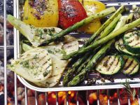 Grilled Vegetables with Anchovy Vinaigrette recipe