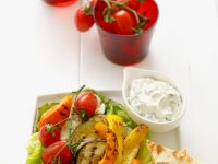 Grilled Vegetables with Cheese Tortillas recipe