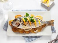 Grilled Whole Bream with Potatoes recipe
