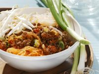 Ground Beef-Glass Noodle Salad with Sprouts
