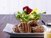 Ground Beef Patties with Salad recipe