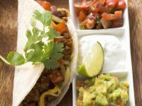 Ground Beef Tacos with Salsa and Guacamole recipe