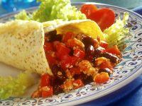 Bean and Bean Tortilla Wraps recipe