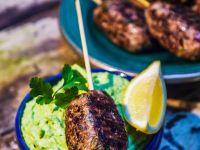 Ground Lamb Kebabs with Fava Bean Puree recipe