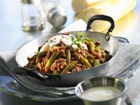 Ground Meat and Green Beans Skillet recipe