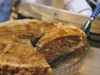 Ground Meat Pie with Mushrooms recipe