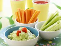 Guacamole with Crudites recipe
