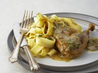 Guinea Fowl with Herbed Pasta recipe