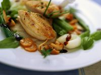 Guinea Fowl with Sweet and Sour Vegetables recipe