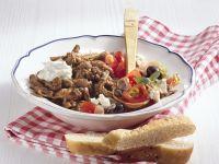 Gyros with Tzatziki and Tomato Salad recipe