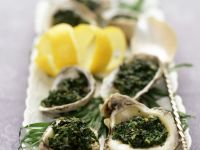 Half Shell Oysters with Spinach recipe