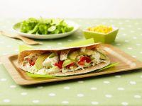 Halibut, Avocado, and Pepper Wraps recipe