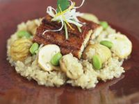 Halibut Fillets with Gourmet Risotto recipe