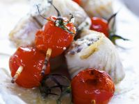 Halibut Rolls with Tomatoes recipe