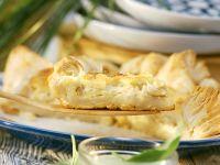 Halibut Tart with Basil Sauce recipe