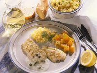 Halibut with Caper Sauce recipe