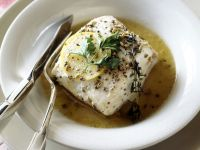Halibut with Lemon Broth recipe