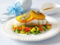 Halibut with Oranges and Vegetables recipe