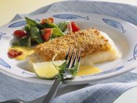 Halibut with Vegetables and Mustard-Horseradish Sauce recipe