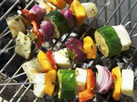 Halloumi Vegetable Skewers recipe