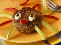 Halloween Meatball Spiders recipe